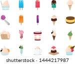 ice cream line icon set.... | Shutterstock .eps vector #1444217987