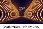 vip neon lights entrance way... | Shutterstock .eps vector #1444242227
