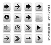 16 arrow sign gray icon  set 01 ...