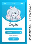 cute elephant kids mobile app...