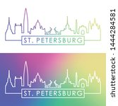 st. petersburg city skyline.... | Shutterstock .eps vector #1444284581