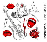 set in a rock culture style.... | Shutterstock .eps vector #1444286441
