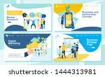 set of landing page design... | Shutterstock .eps vector #1444313981