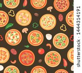 pizza house with ingredients... | Shutterstock .eps vector #1444314191