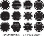 grunge circles post stamps...   Shutterstock .eps vector #1444316504