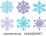 grunge snowflakes stamps... | Shutterstock .eps vector #1444326947