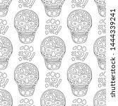 vector black and white hand... | Shutterstock .eps vector #1444339241