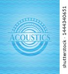 acoustics light blue water... | Shutterstock .eps vector #1444340651