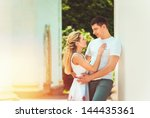 cute romantic couple in love | Shutterstock . vector #144435361