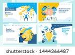 set of landing page design... | Shutterstock .eps vector #1444366487
