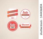 set of sale labels | Shutterstock .eps vector #144436834