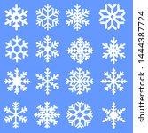 snowflake winter icons set.... | Shutterstock .eps vector #1444387724