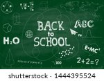 back to school banner. green... | Shutterstock .eps vector #1444395524