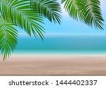 palm leaf vector background... | Shutterstock .eps vector #1444402337