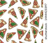 seamless pattern with slices of ...