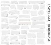 set of paper different shapes... | Shutterstock . vector #1444431977