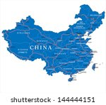 china map | Shutterstock .eps vector #144444151