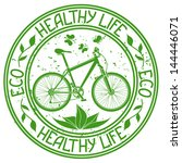 Ecological Stamp With Bicycle...