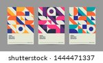 set of retro geometric covers.... | Shutterstock .eps vector #1444471337