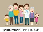 doctor and family.big family... | Shutterstock .eps vector #1444483034