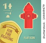 Vector Icon Flat Firefighter...