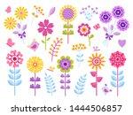 Cartoon Flower Stickers. Cute...