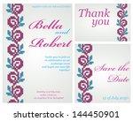 set of wedding or invitation... | Shutterstock .eps vector #144450901