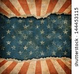 Grunge Ripped Paper Usa Flag...