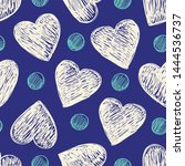 simple seamless pattern with... | Shutterstock .eps vector #1444536737