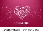vector music melody note shaped ...   Shutterstock .eps vector #1444549151