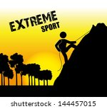 extreme sport over late... | Shutterstock .eps vector #144457015