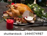 carving rustic style roasted...   Shutterstock . vector #1444574987