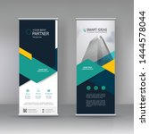 vertical banner stand...   Shutterstock .eps vector #1444578044