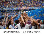 Usa players celebrate after...