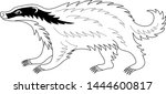 beautiful badger. heraldry.... | Shutterstock .eps vector #1444600817