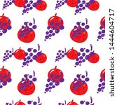 fruit seamless pattern with red ...   Shutterstock .eps vector #1444604717