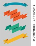 set of nice retro ribbons and... | Shutterstock .eps vector #144464041