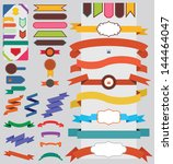 set of nice retro ribbons and... | Shutterstock .eps vector #144464047