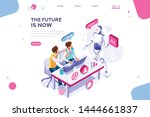 human interactive tech... | Shutterstock .eps vector #1444661837