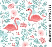 seamless pattern with a pink... | Shutterstock .eps vector #144467911
