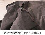 black creased crumpled paper... | Shutterstock . vector #1444688621