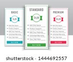 pricing table in flat design...