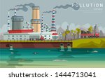 Ecology Pollution Flat Banner...
