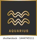 zodiac sign. aquarius.... | Shutterstock .eps vector #1444745111