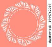 decorative frame elegant... | Shutterstock . vector #1444762064