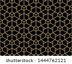 the geometric pattern with... | Shutterstock . vector #1444762121