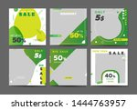 green social media banner... | Shutterstock .eps vector #1444763957