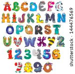English Alphabet With Funny...