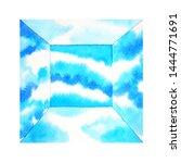 blue sky box room space... | Shutterstock . vector #1444771691
