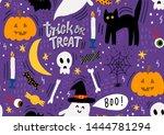 halloween cute illustration  ...   Shutterstock . vector #1444781294